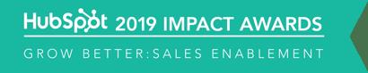Hubspot Impact Awards 2019 Sales Enablement