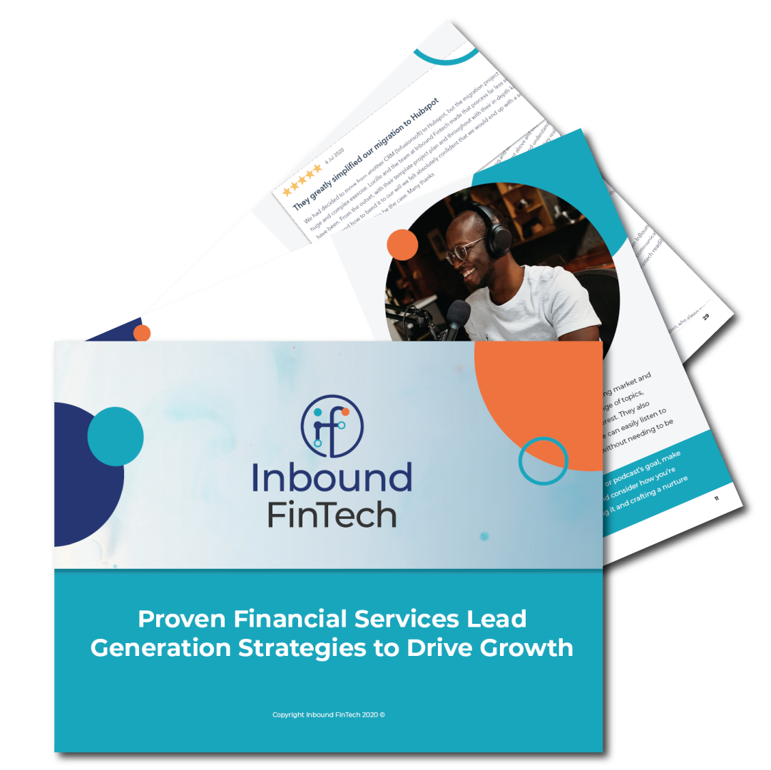 Financial Services Lead Generation Strategies Guide - Ebook cover